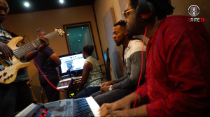 Flavour and Cobhams studio recording sesion